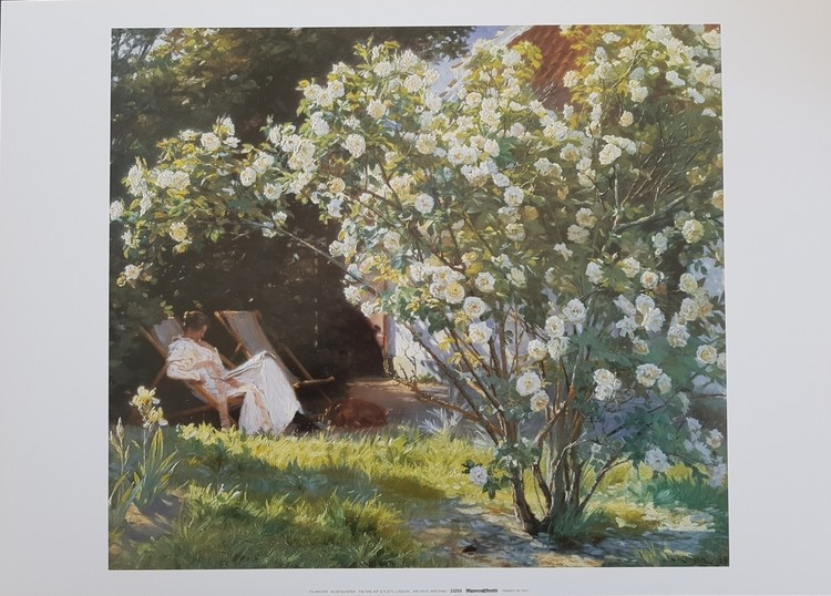 Marie in the Garden (The Roses) Art Print