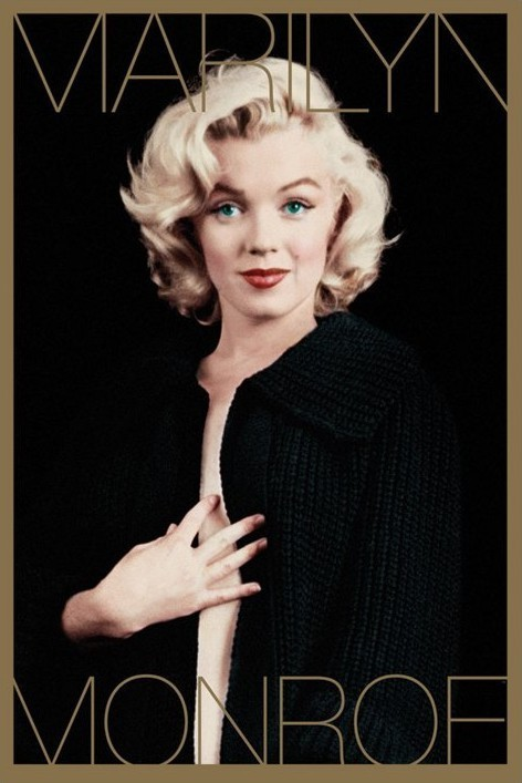 MARILYN MONROE Black Amp Gold Poster Sold At Europosters
