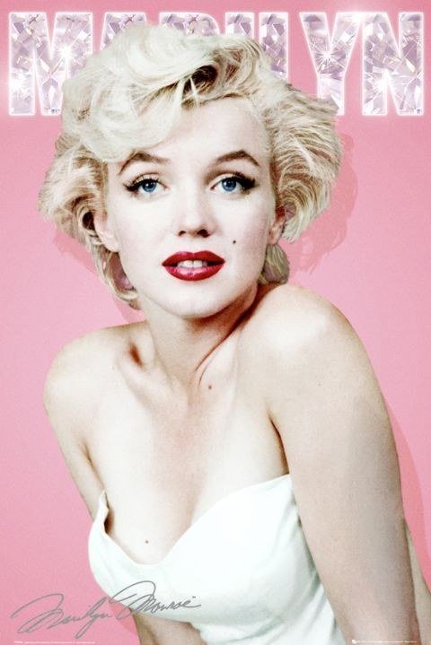 marilyn monroe diamond poster sold at europosters. Black Bedroom Furniture Sets. Home Design Ideas