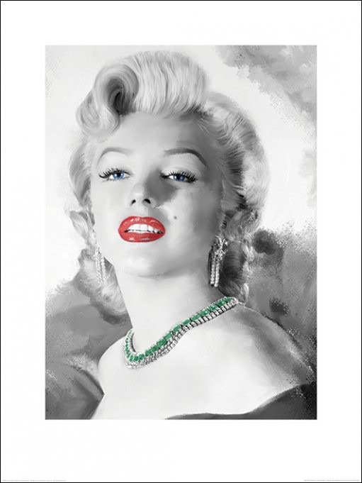 Marilyn Monroe - Diamonds Are A Girl's Best Friend Art Print