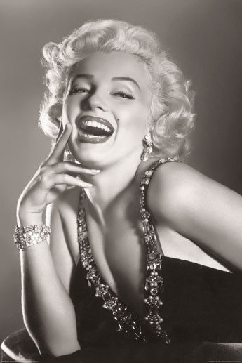 MARILYN MONROE - laughing Poster, Art Print