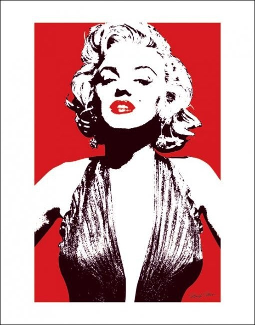 Marilyn Monroe - Red Art Print