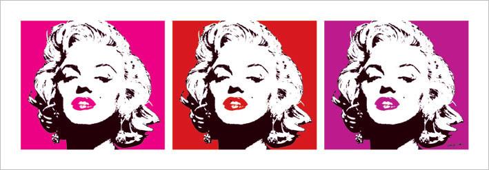 Marilyn Monroe - Red Triptych Art Print