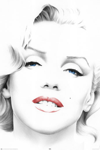 MARILYN MONROE - sketch Poster, Art Print