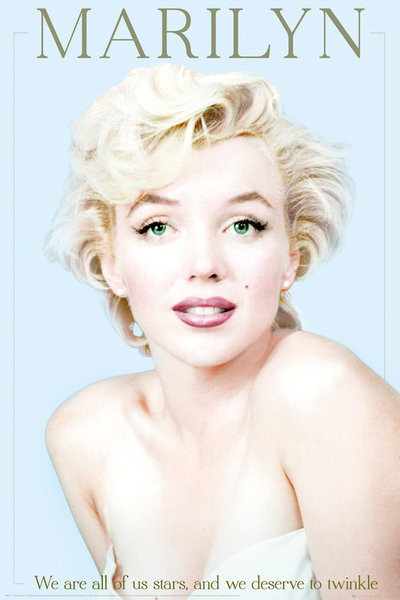 poster quadro marilyn monroe we are all stars em. Black Bedroom Furniture Sets. Home Design Ideas