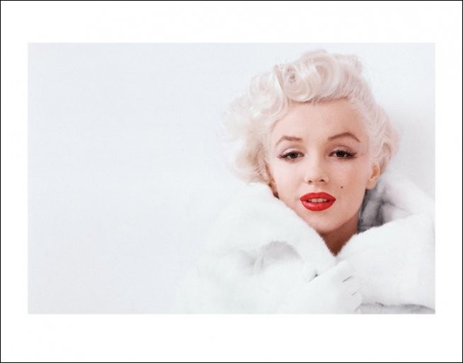 Marilyn Monroe - White Art Print