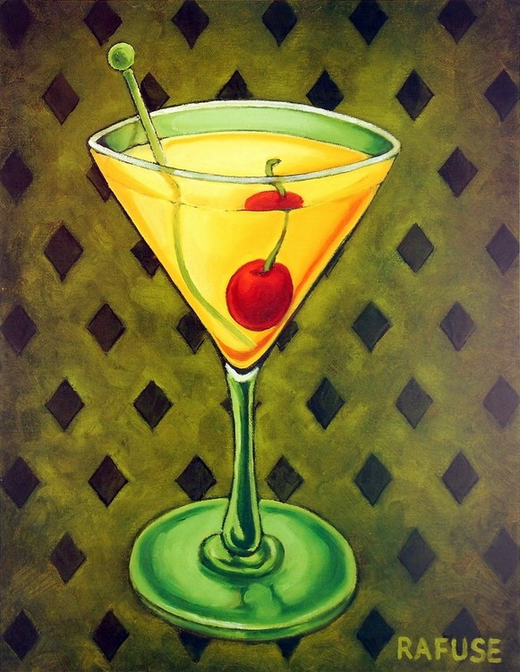 Martini Royale - Diamonds Art Print