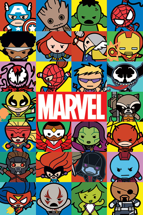 Marvel - Characters (Kawaii) Poster | Sold at Europosters
