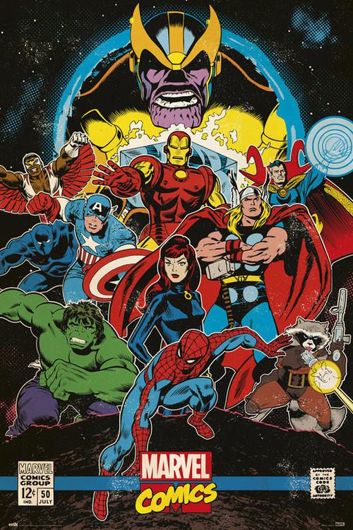 Marvel Comics - Infinity Retro Poster