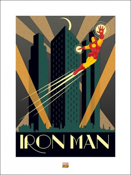 Marvel Deco - Iron Man Art Print