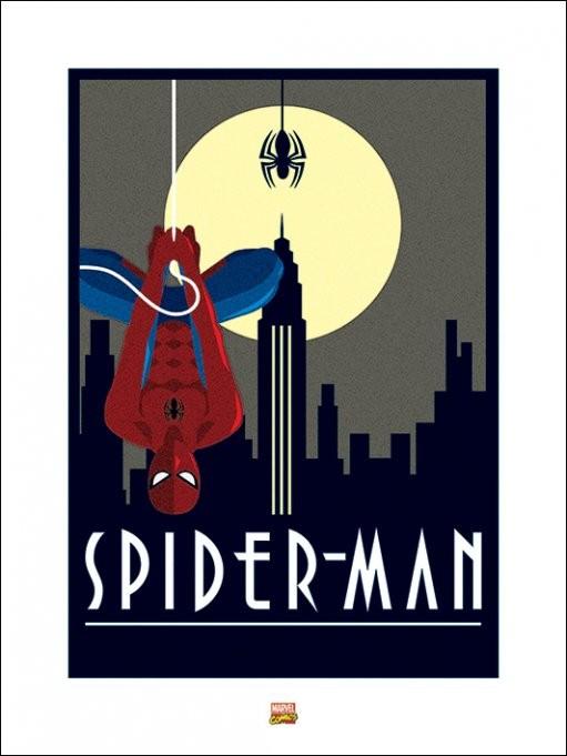 Marvel Deco - Spider-Man Hanging Art Print