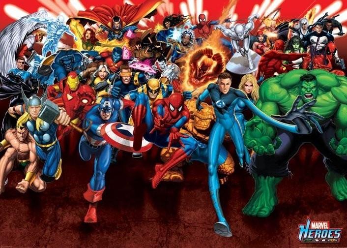 MARVEL HEROES - attack Poster, Art Print