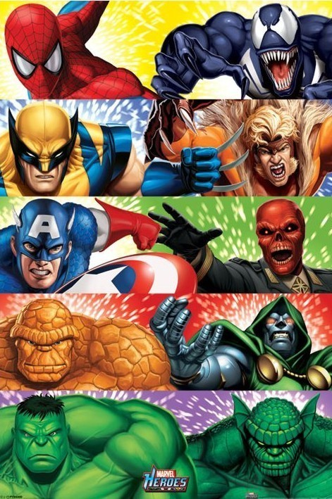marvel heroes heroes vs villains poster sold at europosters