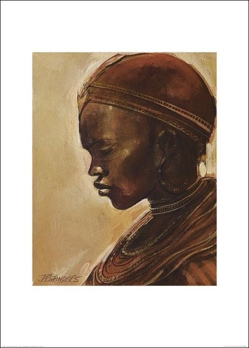 Masai woman II. Art Print