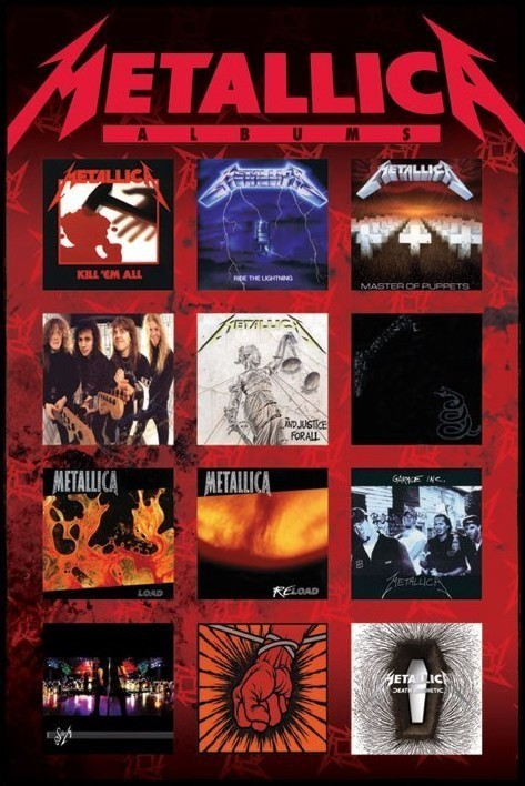 metallica albums poster sold at. Black Bedroom Furniture Sets. Home Design Ideas