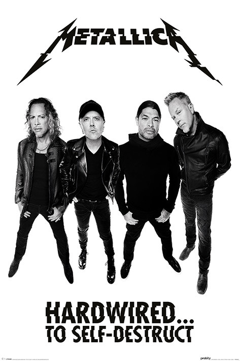 Metallica hardwired band poster