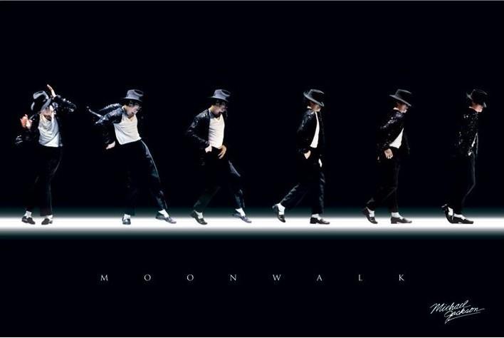 Michael Jackson - moonwalk Poster
