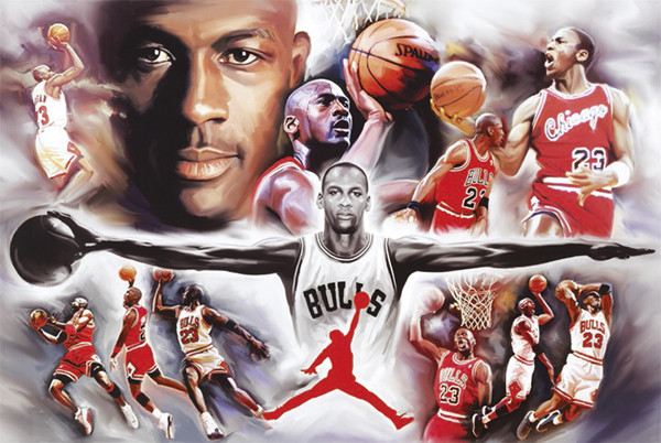 a3d0982ae93 Poster Michael Jordan - collage ...