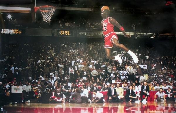 Pôster Michael Jordan - Slam Dunk Contest