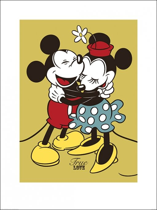 Mickey & Minnie Mouse - True Love Art Print | Buy at EuroPosters
