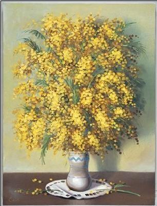 Mimosas Art Print