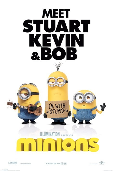 Minions - I'm With Stupid Poster