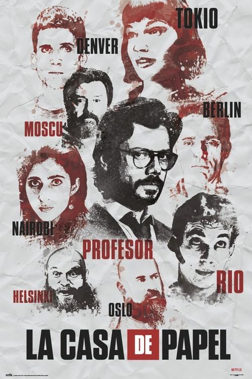 Money Heist - Characters Poster