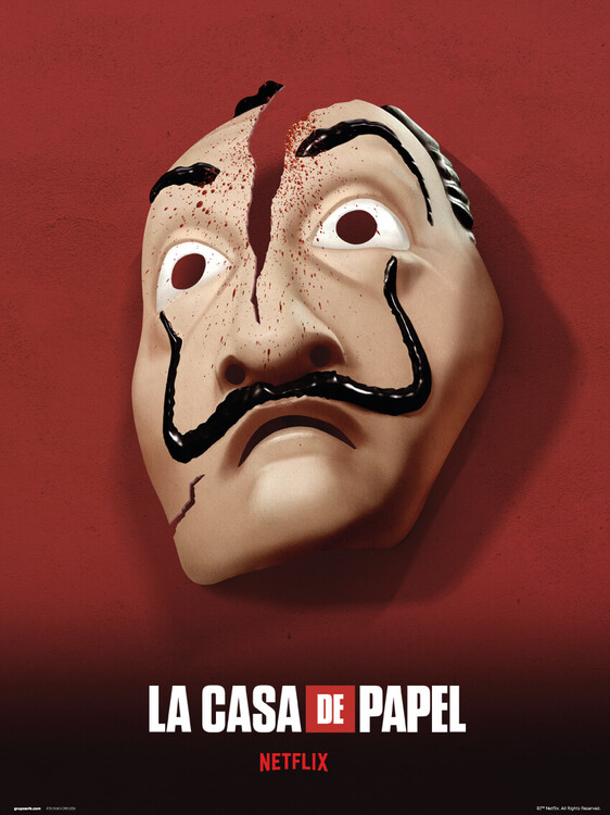 Money Heist (La Casa De Papel) - Mask Art Print