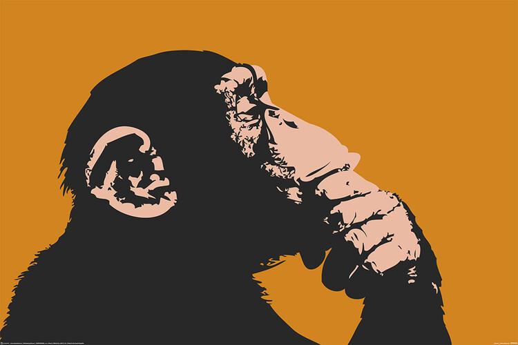 Poster Monkey - Thinking