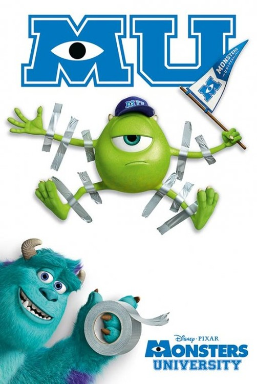 Poster MONSTERS UNIVERSITY - tape