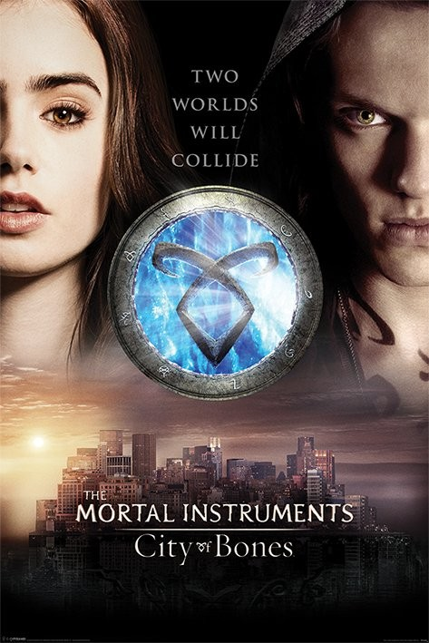 Poster  MORTAL INSTRUMENTS CITY OF BONES - two worlds