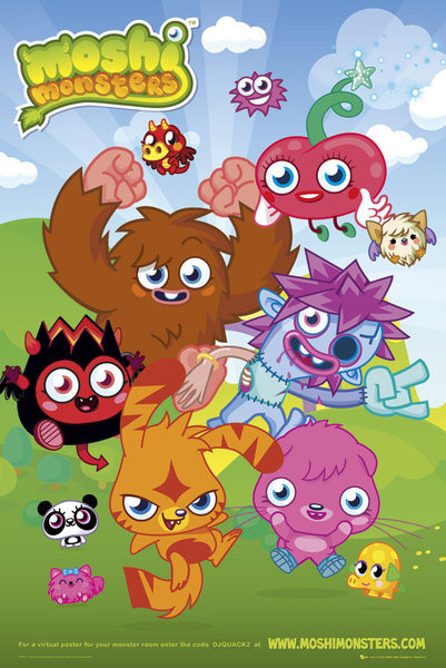 Moshi monsters - group Poster