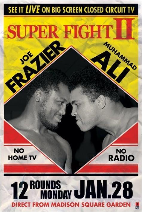 Muhammad Ali Vs Joe Frazier Super Fight 2 Poster Sold