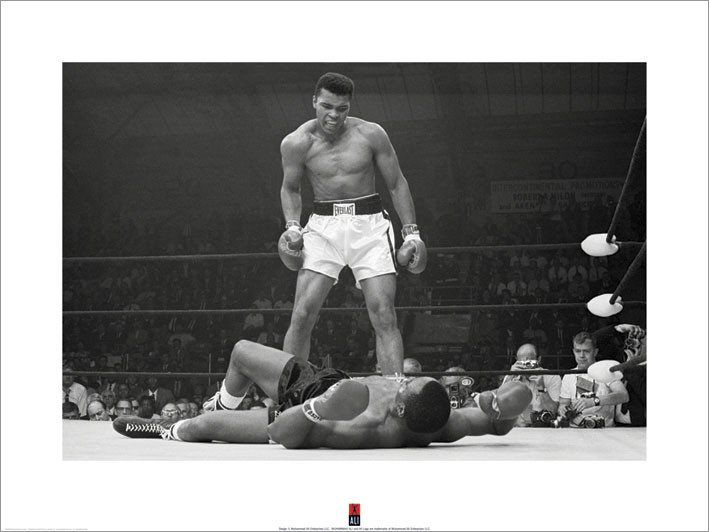 Muhammad Ali vs Liston Art Print
