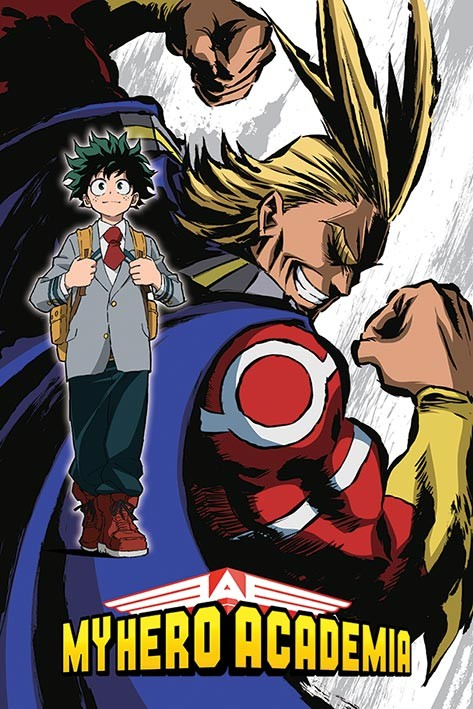 my hero academia all might flex poster sold at abposters com