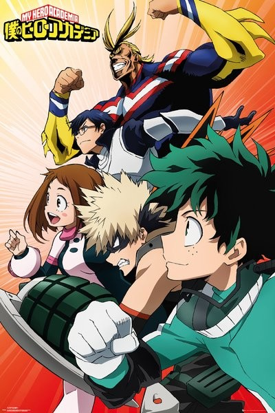 my hero academia heroes poster sold at abposters com