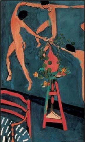 Nasturtiums with The Dance, 1912 Art Print