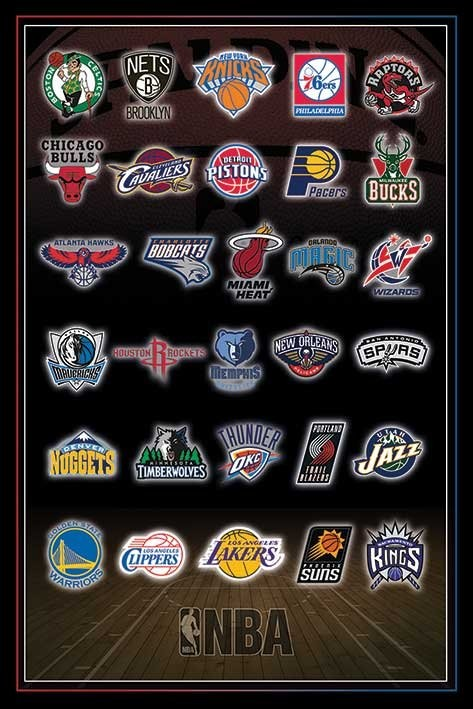 NBA - Team logos Poster | Sold at Abposters.com