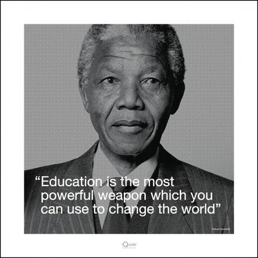 Nelson Mandela - Quote Art Print