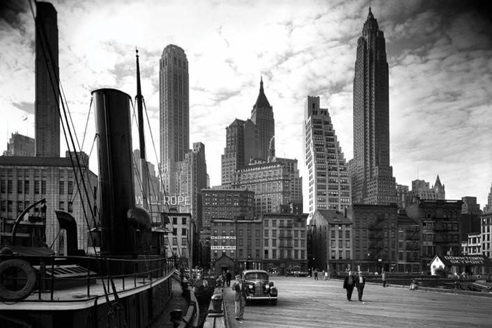 New york city pier 1937 poster