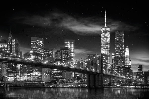 New York - Freedom Tower (B&W) Poster