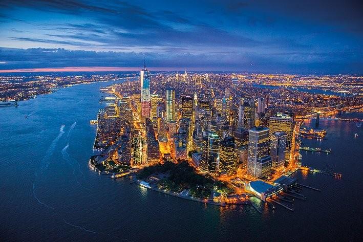 New York - Jason Hawkes Poster, Art Print