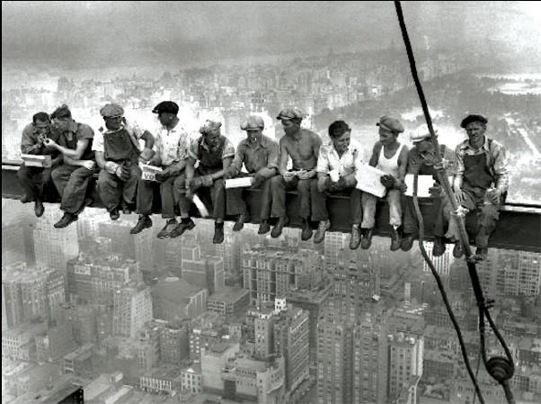 New York - Lunch on a skyscraper Art Print