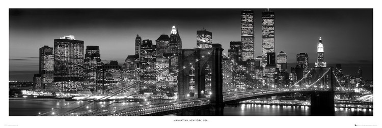 New york manhattan black poster