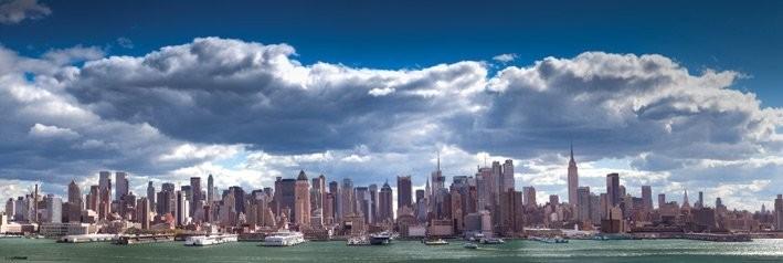 new york manhattan skyline poster sold at. Black Bedroom Furniture Sets. Home Design Ideas