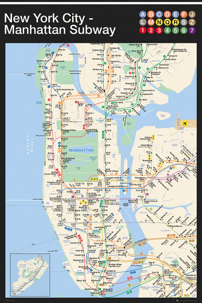 New York City Subway Map Poster.New York Manhattan Subway Map Poster Sold At Abposters Com
