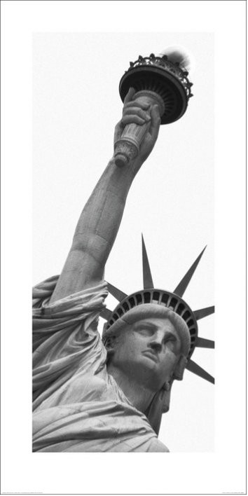 New York - Statue of Liberty, Amy Gibbings Art Print