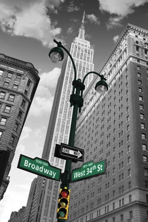 new york street sign poster sold at ukposters. Black Bedroom Furniture Sets. Home Design Ideas