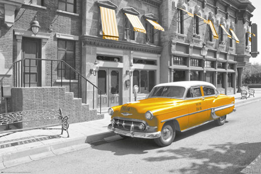Poster New York Taxi.New York Taxi Car Poster Sold At Abposters Com