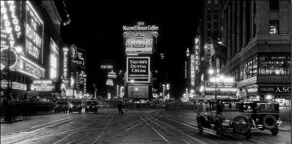New York - Times Square v noci Art Print